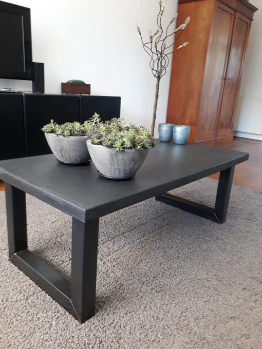 salontafel betonlook stalen u poten