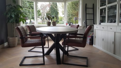 Betonlook tafel ovaal 220×110