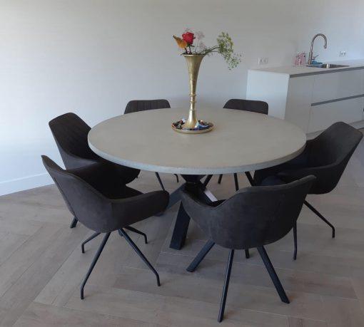 betonlook tafel rond