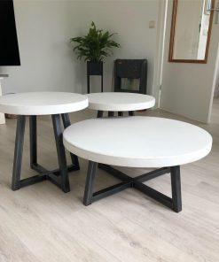 betonlook salontafel set van 3
