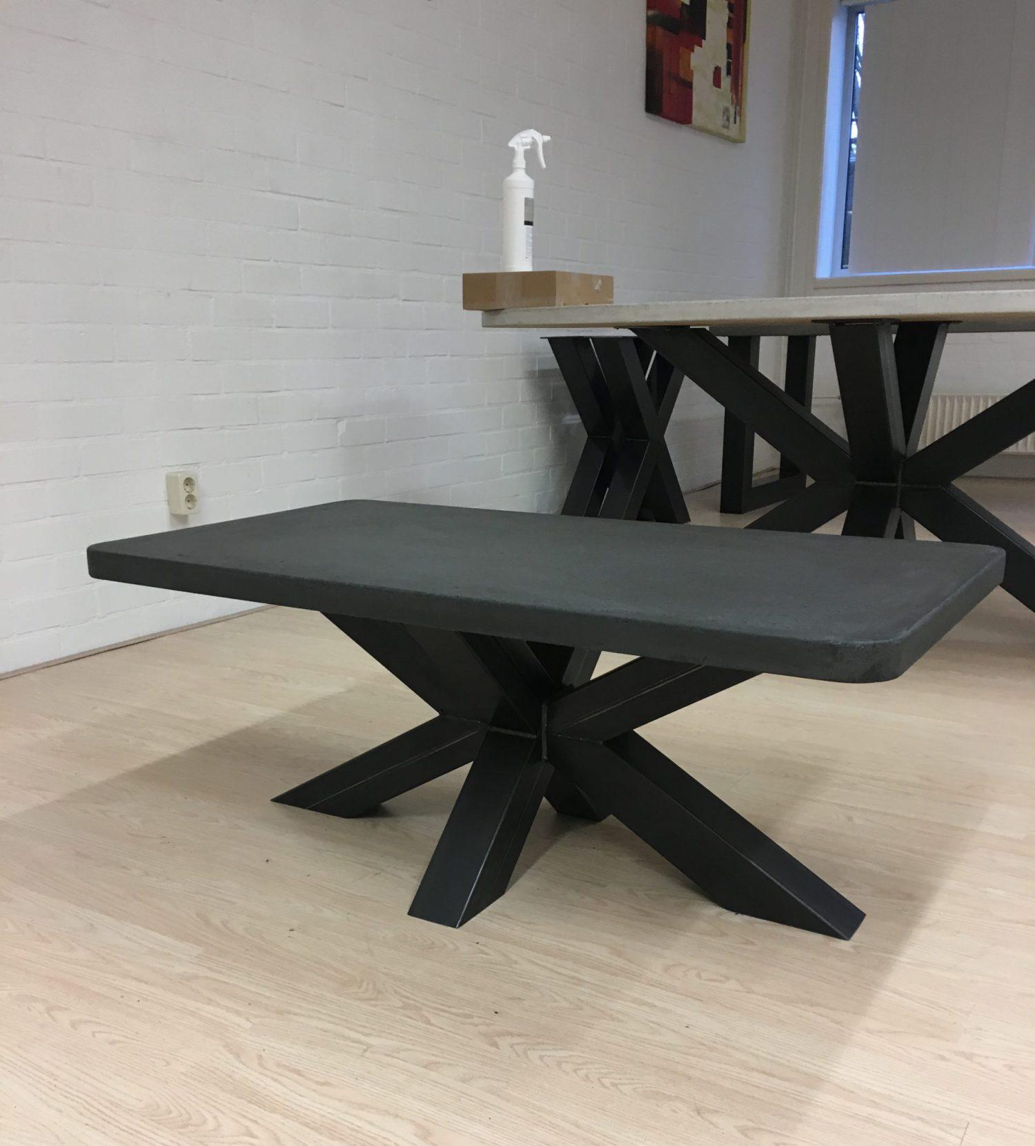 salontafel betonlook met matrix poot