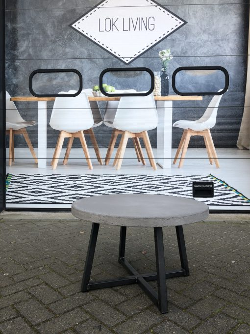 salontafel beton met stalen poot