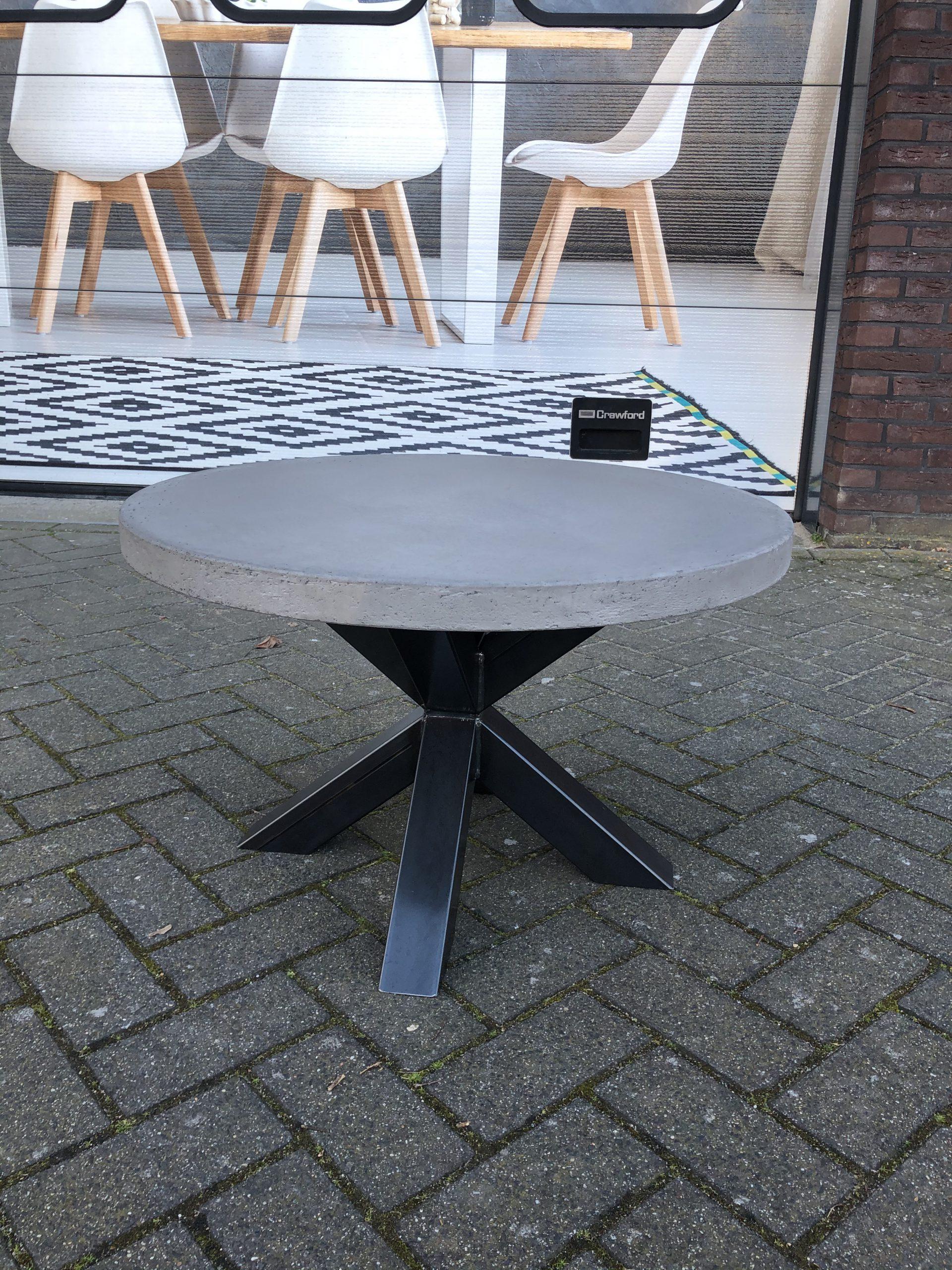 salontafel rond kruispoot
