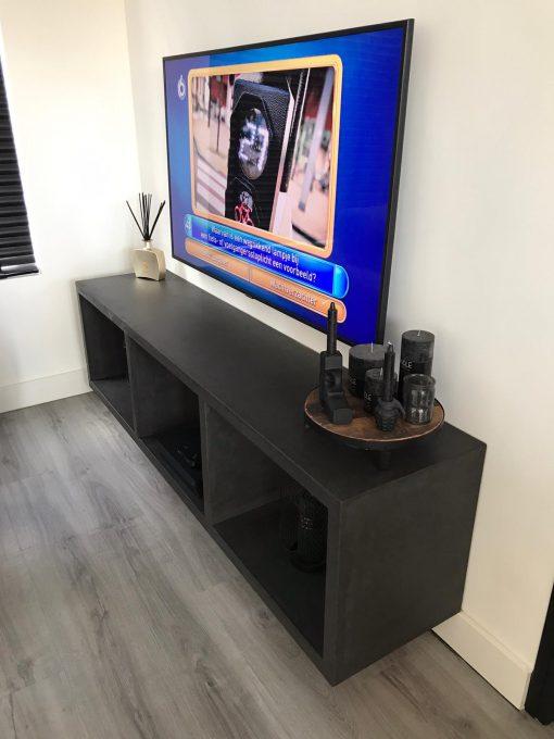 tv meubel op maat betonlook