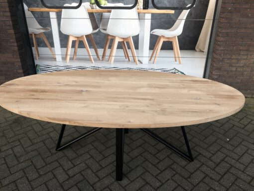 eiken tafel ovaal + ovale poot