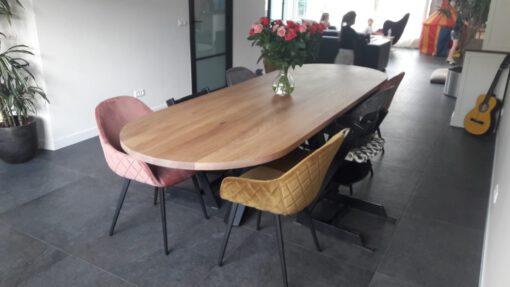eiken tafel ronde hoeken