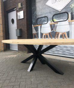 oud eiken tafel ovaal